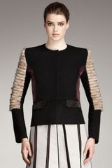 Fendi Colorblock-fur Jacket - Lyst