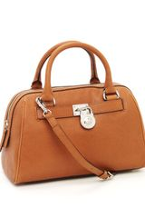 Michael by Michael Kors Medium Hamilton Satchel, Luggage - Lyst