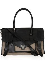 Proenza Schouler Medium Ps1 Travel Leather and Felt Tote in Black - Lyst