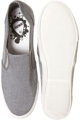 Topman Guide Grey Slip On Plimsolls in Gray for Men (grey) - Lyst