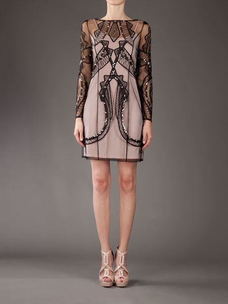 Alice By Temperley Lace Overlay Dress In Pink Black Lyst