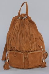 Jeffrey Campbell The Rizzler Bag in Tan Suede