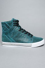 Supra The Skytop Sneaker in Blue Black Crackle in Blue for Men (black/blue) - Lyst