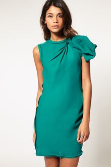 ASOS Collection Asos Dress with Manipulated Shoulder - Lyst