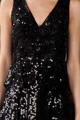 Anna Sui Deco Sequin Dress in Black - Lyst