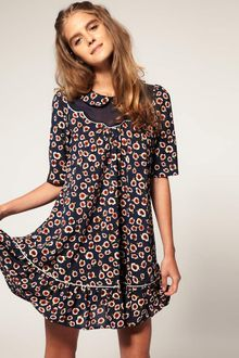 ASOS Collection Asos Mini Dress with Flower Print - Lyst
