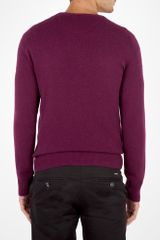 Burberry Deep Purple Cashmere Crew Knit in Purple for Men - Lyst