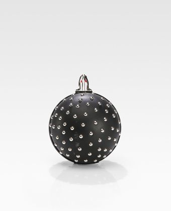 Christian Louboutin Eden Studded Ball Clutch - Lyst