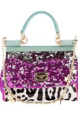 Dolce & Gabbana Embellished Handbag in Blue - Lyst