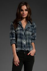 Joe's Jeans Sexy Western Button Down in Navy/grey - Lyst