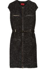Lanvin Belted Wool-blend Dress - Lyst