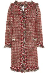 Moschino Cheap & Chic Bouclé Wool-blend Coat - Lyst