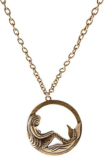 ASOS Collection Asos Round Mermaid Pendant Neckchain - Lyst