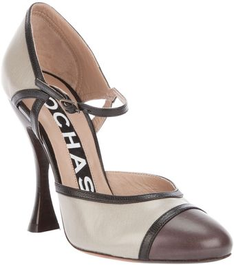 Rochas Two-tone Mary-jane Pumps - Lyst