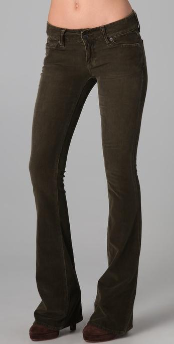 Vince Flare Corduroy Pants in Brown | Lyst