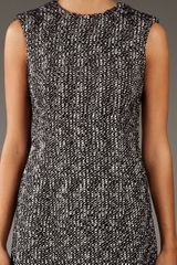 Alexander Mcqueen Tweed Dress in Gray (black) - Lyst