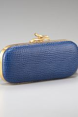 Diane Von Furstenberg Lytton Crocodile-embossed Clutch - Lyst