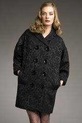 Dolce & Gabbana Large-button Jacquard Coat - Lyst
