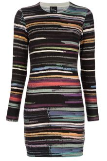 Paul By Paul Smith Printed Long-sleeved Dress - Lyst