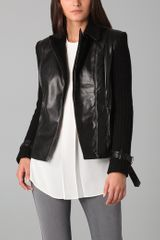 Sachin & Babi Harley Faux Leather and Cable-knit Motorcycle Jacket - Lyst