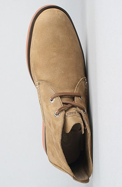 Sperry Top Sider The Boat Oxford Desert Boot In Dark Tan