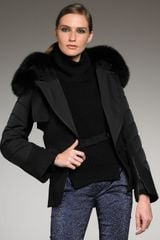 Alexander Wang Fur-detailed Harness Jacket - Lyst