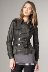 Burberry Brit Double-breasted Leather Jacket - Lyst