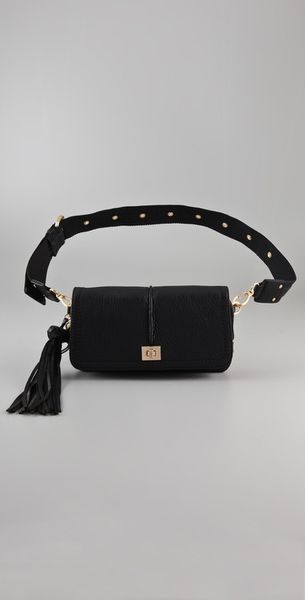 Diane Von Furstenberg Elaine New Belt Bag in Black