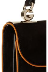 Gucci Leathertrimmed Suede Shoulder Bag in Black - Lyst