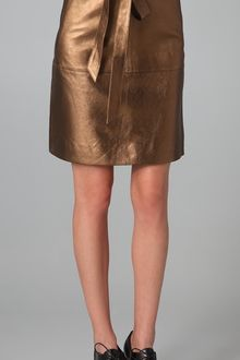 Marc By Marc Jacobs Limelight Metallic Leather Skirt - Lyst