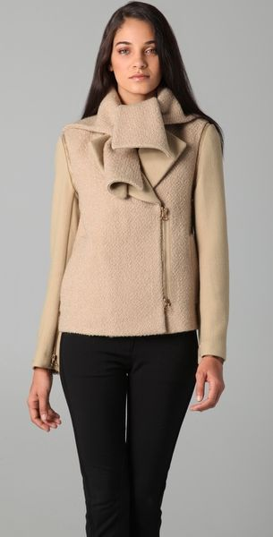 3.1 Phillip Lim Scarf Collar Coat with Removable Sleeves - Lyst