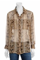 Equipment Snakeskin Button-down Blouse - Lyst
