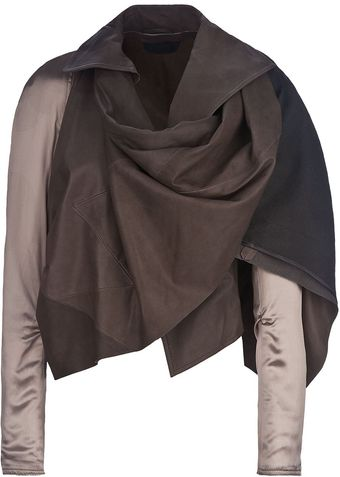 Haider Ackermann Draped Leather Jacket - Lyst