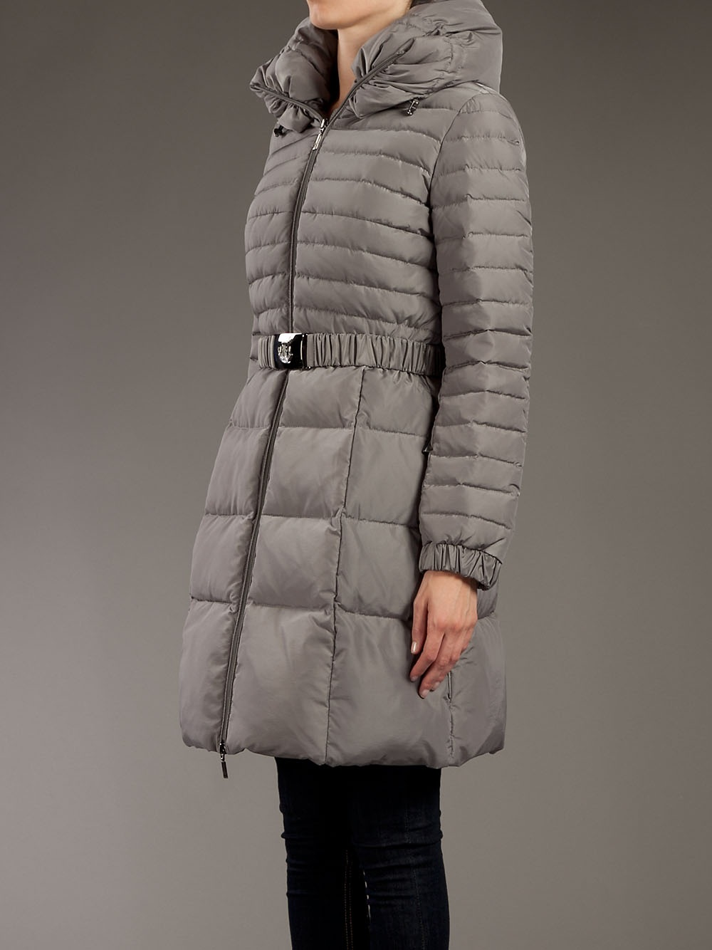 Moncler Fraxinelle Coat In Gray Lyst