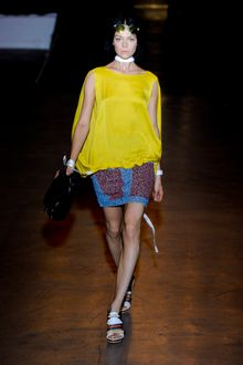 Rag & Bone Spring 2012 Yellow Sleeveless Tunic - Lyst