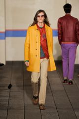 Tommy Hilfiger Spring 2012 Red Varsity Jacket in Red for Men - Lyst