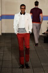 Tommy Hilfiger Spring 2012 White Striped Collared TShrit in White for Men - Lyst
