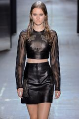 Alexander Wang Spring 2012 Leather Cropped Top - Lyst