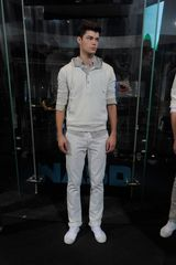 DKNY Spring 2012 Cream Chino Trousers - Lyst