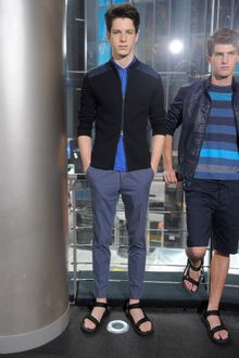 DKNY Spring 2012 Blue Polo Shirt - Lyst