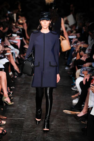 Victoria Beckham Spring 2012 Purple Coat with Black Trim in Purple - Lyst
