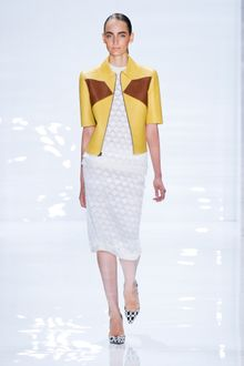 Derek Lam Spring 2012 White Knitted Knee-Length Skirt - Lyst