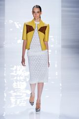 Derek Lam Colorblock Leather Jacket in Yellow - Lyst
