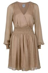 Halston Heritage Smocked Dress - Lyst