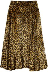 Marc By Marc Jacobs Sphinx Animal-print Velvet Skirt - Lyst