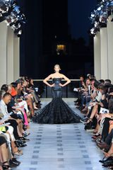 Zac Posen Spring 2012 Black Duchess Satin Mermaid Dress in Black - Lyst