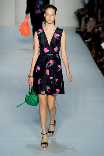 Marc By Marc Jacobs Spring 2012 Black Print Dress - Lyst
