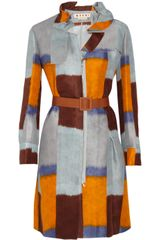 Marni Printed Silk and Linen-blend Coat - Lyst
