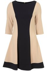Topshop Colour Panel Dress - Lyst