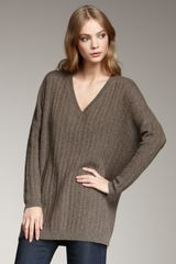 Vince V-neck Knit Sweater - Lyst